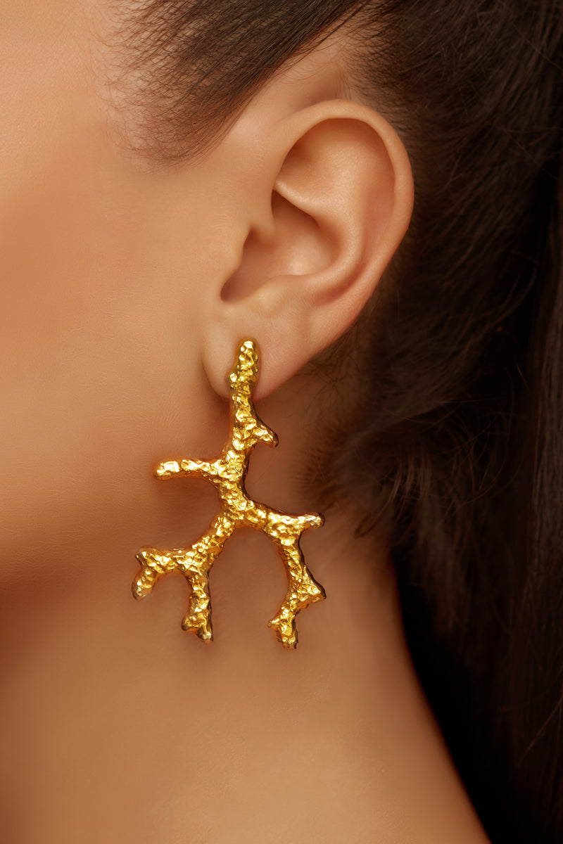 Aquata Earrings - 24k Gold
