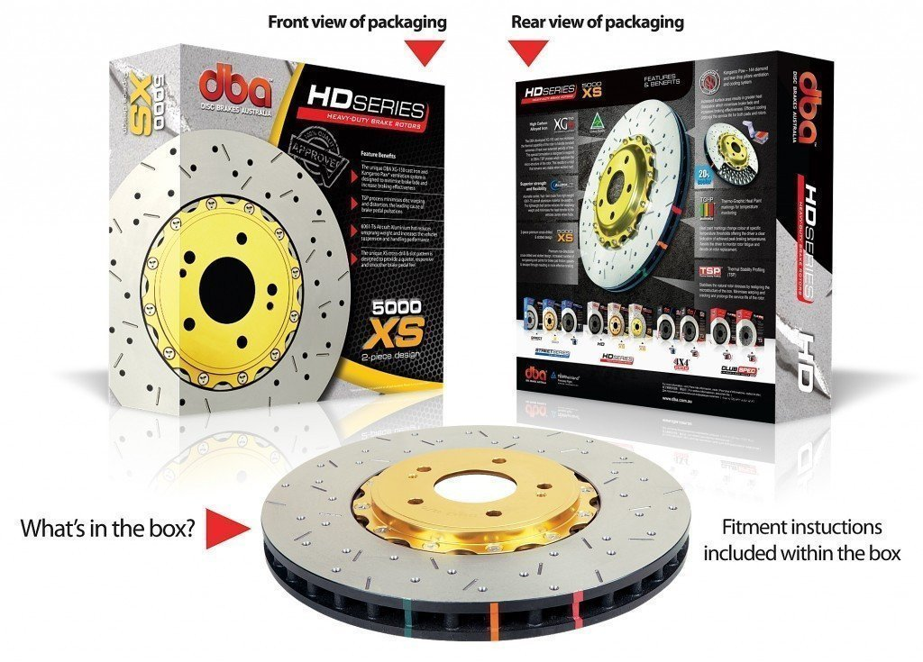 DBA MITSUBISHI EVO 5-9 GSR BREMBO XS 5000 SERIES FRONT ROTORS (PER PAIR)-Automotive Shed