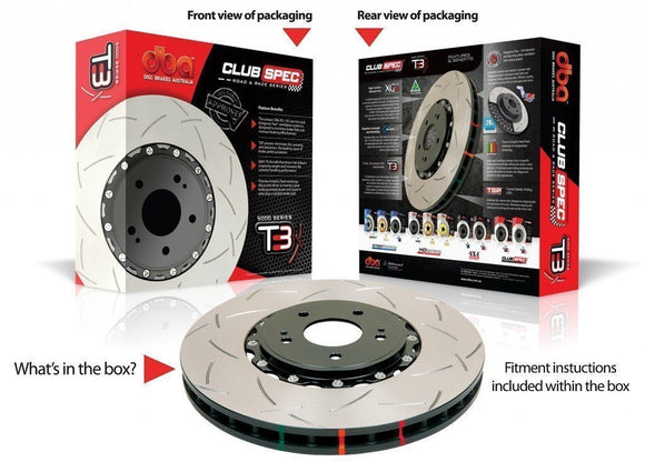 DBA MITSUBISHI LANCER EVO 5-9 GSR BREMBO T3 5000 SERIES FRONT ROTORS (PER PAIR)-Automotive Shed