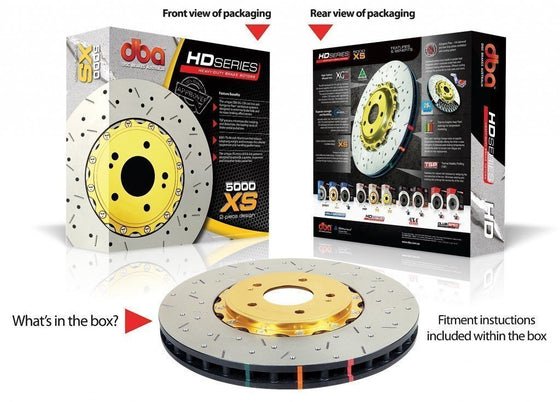 DBA SUBARU LIBERTY GT MY02-04 XS 5000 SERIES FRONT ROTORS (PER PAIR)-Automotive Shed
