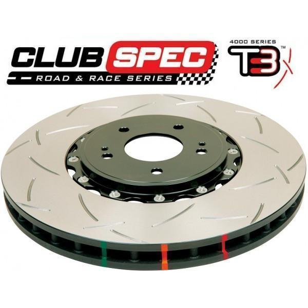 DBA T3 5000 SERIES T-SLOTTED - FRONT ROTORS (SKYLINE GTR R32-34) - BLACK-Automotive Shed