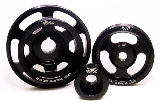 GFB LIGHTENED PULLEY KIT - 3 PIECE (WRX 08-14/STI 08-16/LIBERTY 04-09/FORESTER 08-12)-Automotive Shed