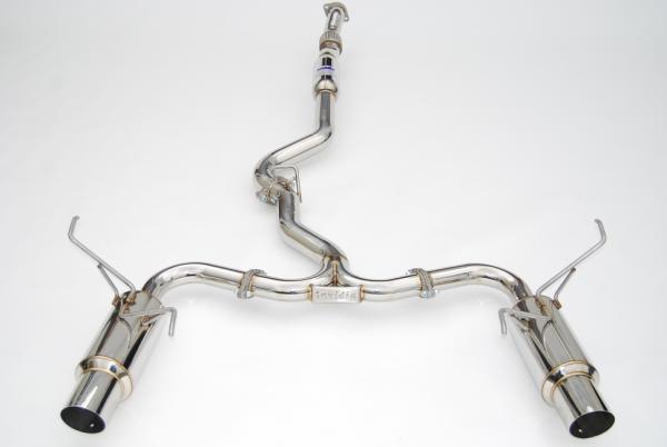 Invidia N1 Cat Back Exhaust - Subaru MY08-MY13 WRX/STI Sedan - Dual Exit - Stainless Steel Tips-Automotive Shed