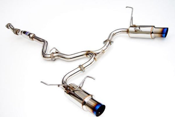 Invidia N1 Cat Back Exhaust - Subaru MY08-MY13 WRX/STI Sedan - Dual Exit - Titanium Tips-Automotive Shed