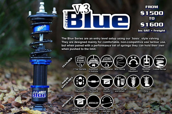 MCA Blue Series Coilovers (200XS S15)-Automotive Shed