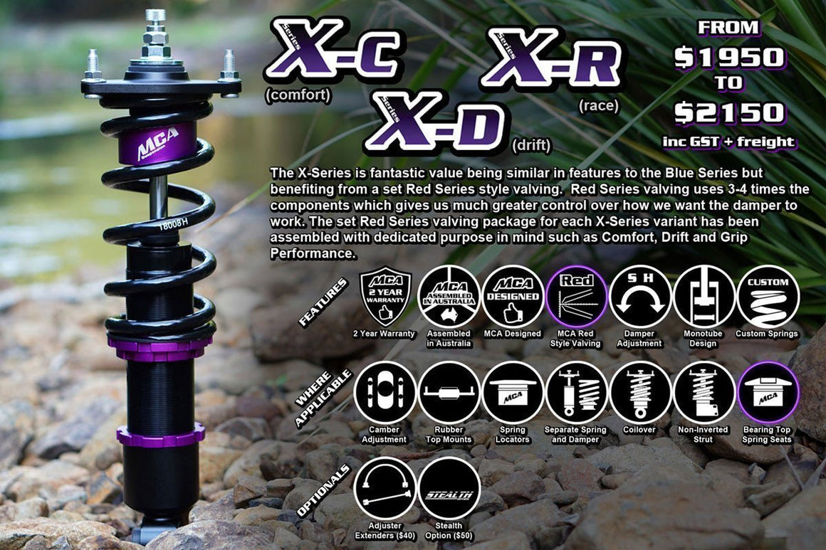 MCA X-Series Coilovers (EVO 1-X)-Automotive Shed