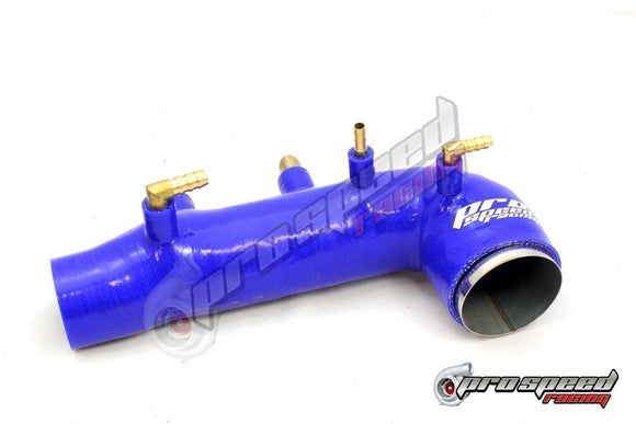 PSR SILICON TURBO INLET SUIT SUBARU GDB WRX/STI 01-07 BLUE-Automotive Shed