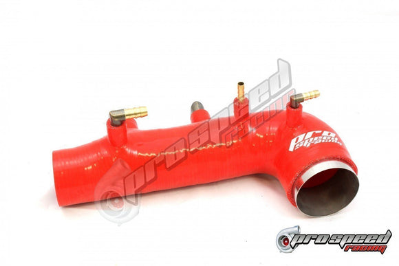 PSR SILICON TURBO INLET SUIT SUBARU GDB WRX/STI 01-07 RED-Automotive Shed