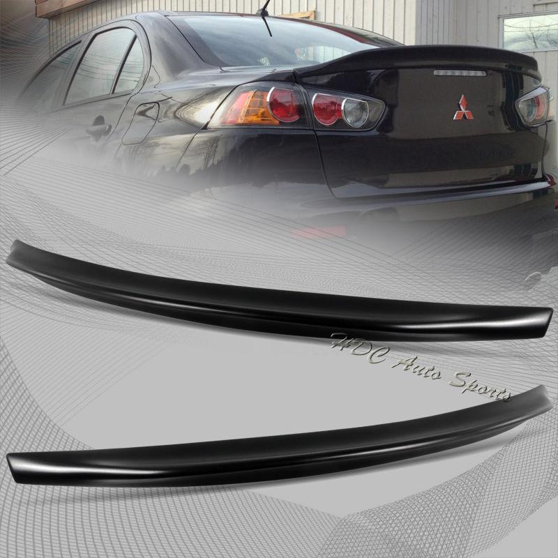 Rear Trunk Spoiler Ducktail Wing Lip For Mitsubishi Evolution EVO 10 FRP-Automotive Shed
