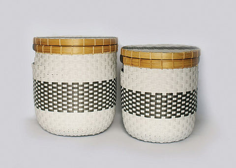 La Abode Signature Eco Friendly Basket -  Set of 2