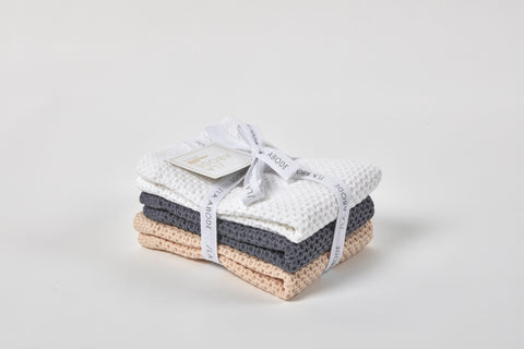 100% Combed Cotton Dishcloth Set