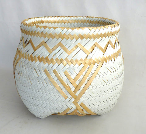 Limited Edition - Hand woven bamboo and recycled plastic basket