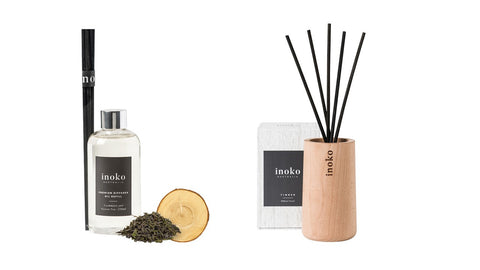 Inoko Cashmere & Green Tea Diffuser With Timber Vessel