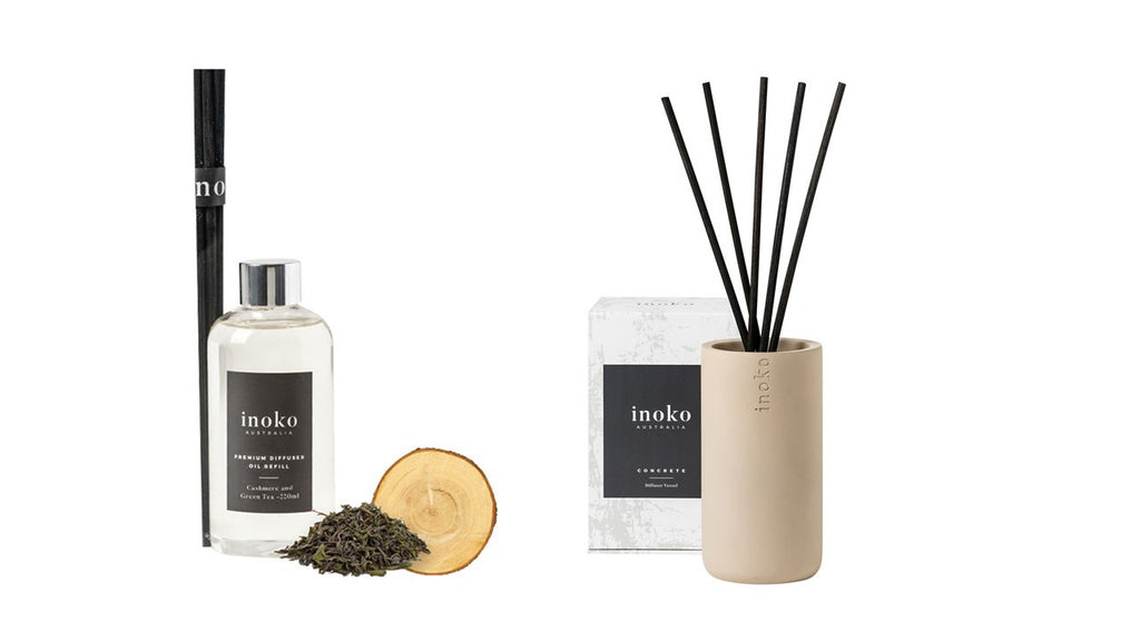 Inoko Cashmere & Green Tea Diffuser With Concrete Vessel