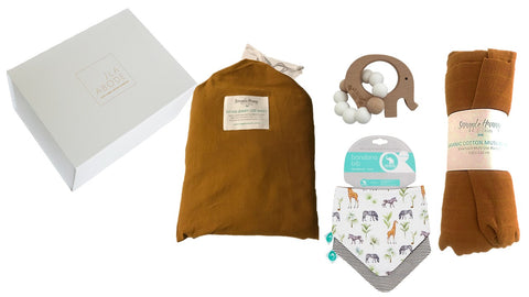 Turmeric Baby Gift Set - with fitted cot sheets