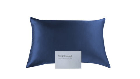 Mulberry Silk Twin Set Pillowcase - Navy