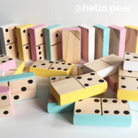 DOMINOES - PRE ORDER - Handmade wooden dominoes, set of 28