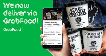 The Blissful Story Creamery partners with Grabfood to deliver carabao milk ice cream pints and other treats