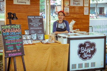 A Blissful POP-UP SCOOP SHOP at the Greenfield Weekend Market