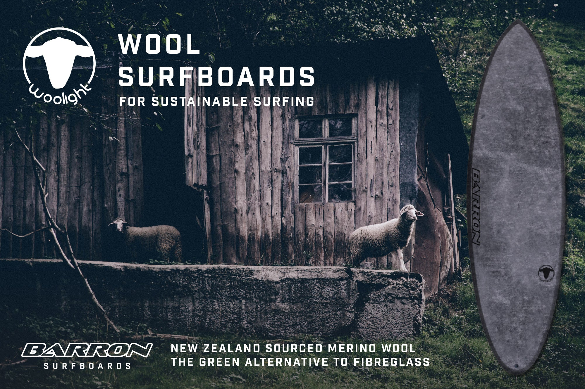 Woolight Sustainable Wool Surfboards from New Zealand