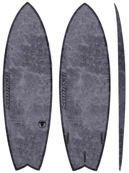 Barron Fish Woolight Charcoal - Barron Surfboards