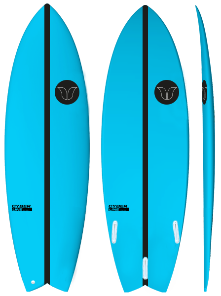 Fush Cyberline Blue - Barron Surfboards