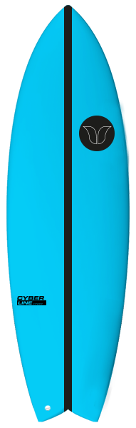 Fush Cyberline Blue Surfboard - Barron Surfboards