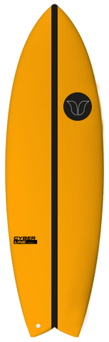 Fush Cyberline Orange - Barron Surfboards