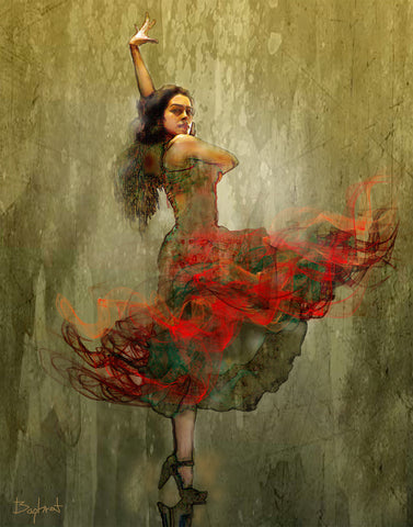""" Flamenco in Red """