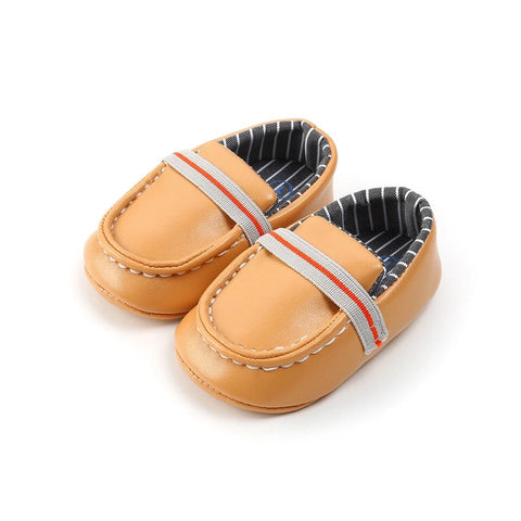Brown Boys Vegan Moccasins
