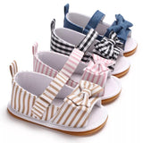 Yellow Stripe Sandals Hard Sole