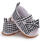 Black Plaid Sandals Hard Sole