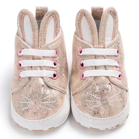Rose Gold Bunny Moccasins