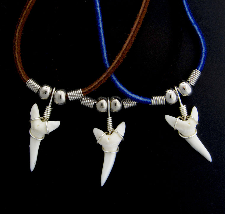 "1 & 1/8"" Mako Shark Suede Necklace"