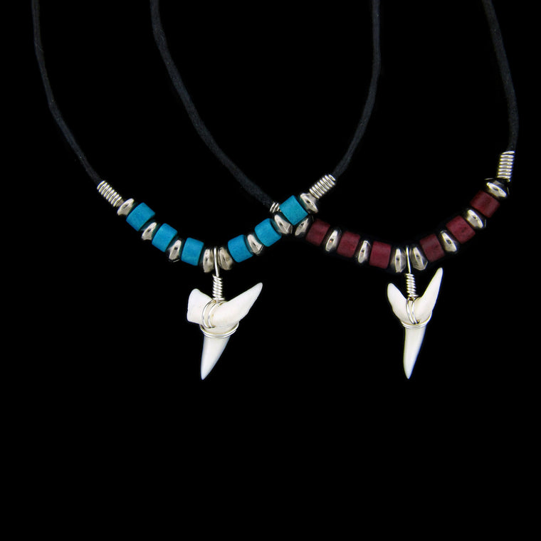 "1 & 1/8"" Mako Shark Ceramic Beads Necklace"