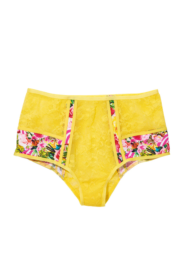 High Waist Panty Yellow l Mary Katrantzou – marykatrantzou 23aeefa9b
