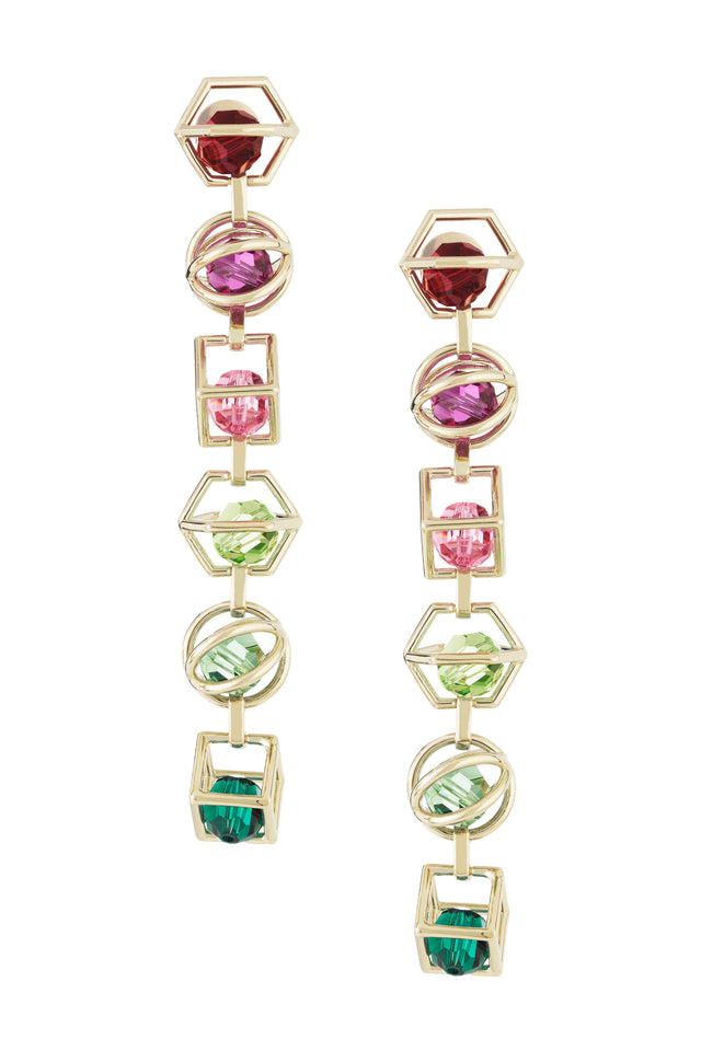 Mary Katrantzou Nostalgia Duster Earrings Light Multi KrPYq
