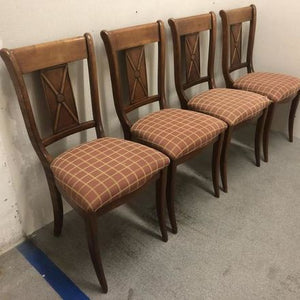 Vintage cherry dining chairs