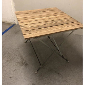 Garden table, recycled wood