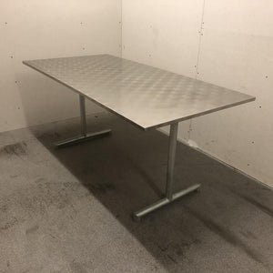 Chrome-steel garden table