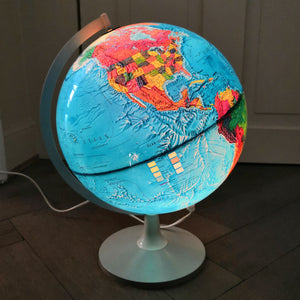 Vintage Illuminated Globe 1976 (German)