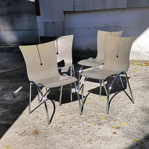 Stackable Grey Chairs (4)