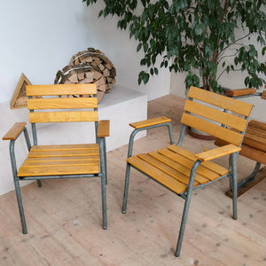 Classic wood garden chairs