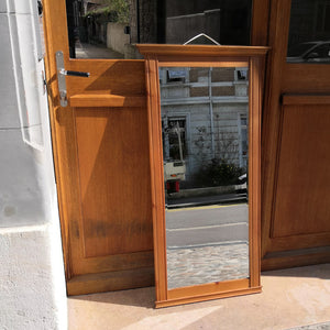 Solid-wood framed mirror (reserved)