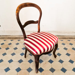 Striped Antique Chair
