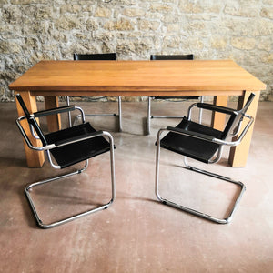 Leather cantilever chairs