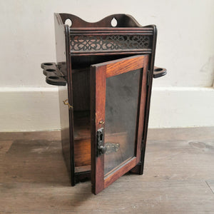 Antique English Pipe Cabinet