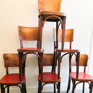 Vintage Wood Bistro Chairs