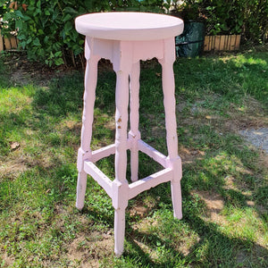 Vintage shabby chic bar stool
