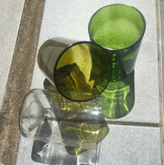 Upcycled Wine Glass Tumbler